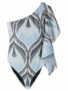 Circus Hotel patterned lurex knit body - Blue