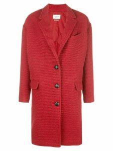 Isabel Marant Étoile oversized single breasted coat - Red