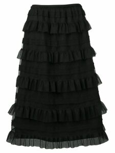Red Valentino ruffle tiered skirt - Black