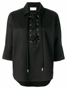 Red Valentino lace-up blouse - Black