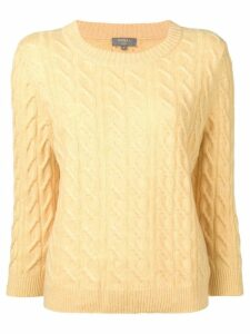 N.Peal cable knit sweater - Yellow