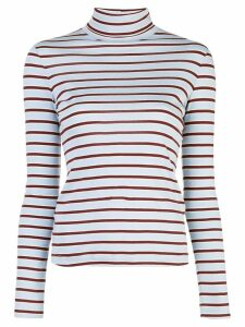 Rosetta Getty striped turtleneck sweatshirt - Blue