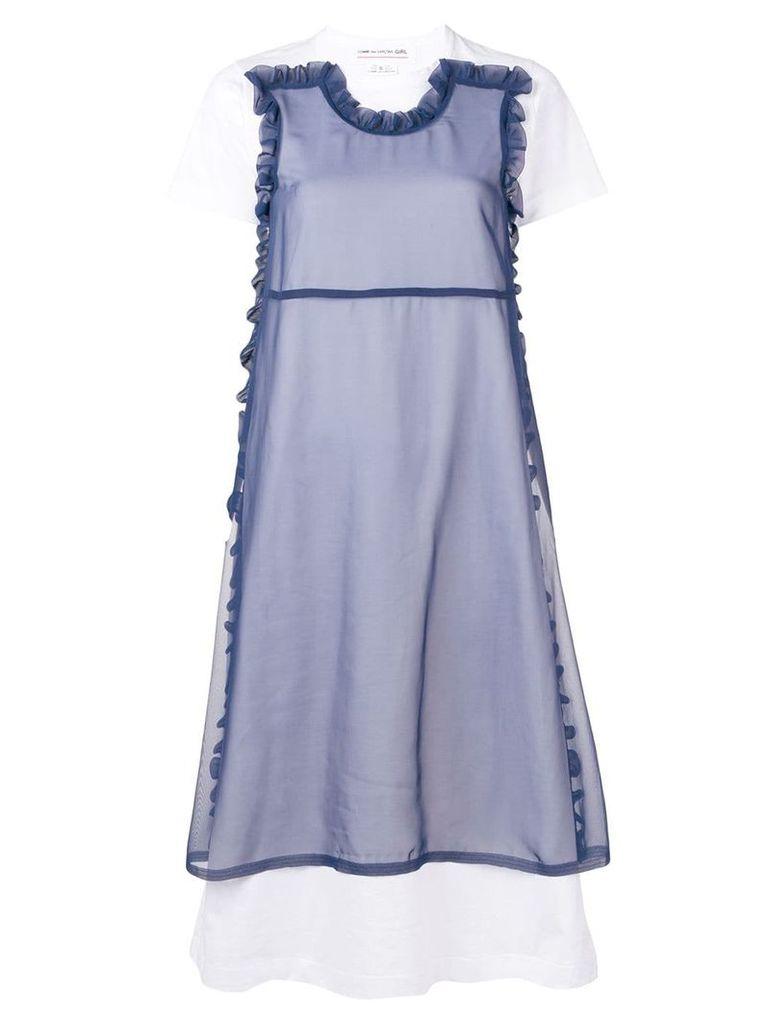 Comme Des Garçons Girl layered T-shirt dress - White