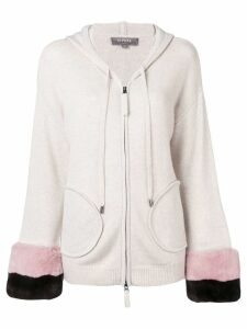 N.Peal hooded cardigan - Neutrals