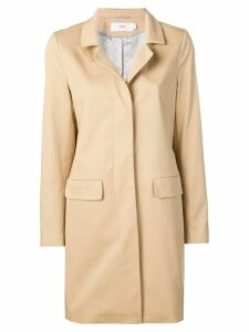 Closed concealed front coat - Neutrals