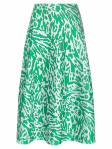Vika Gazinskaya leopard print pocketed midi skirt - Green