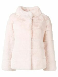 Liska belted fur coat - Pink
