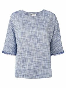 Lanvin fringed detailed blouse - Blue