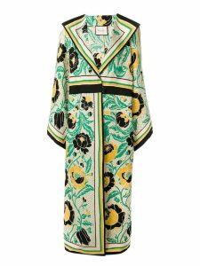 Gucci floral print oversized coat - Yellow