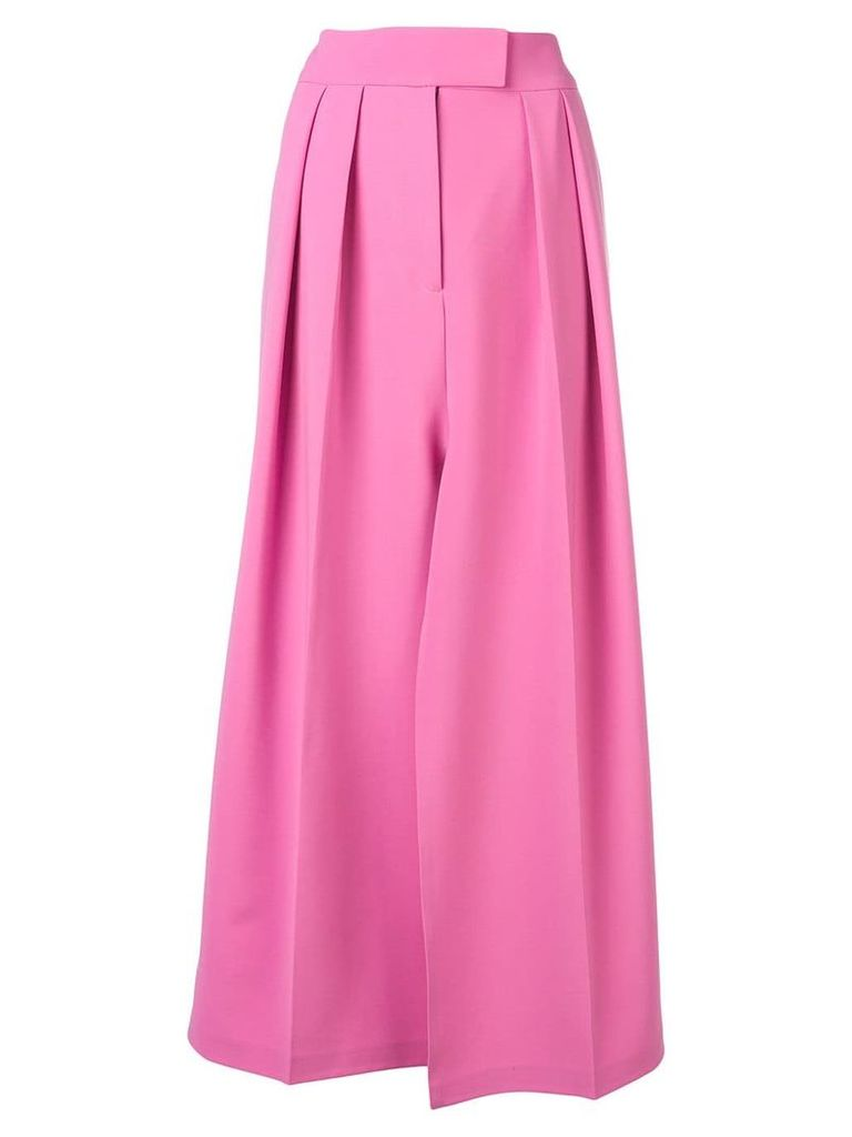 A.W.A.K.E. Mode slit midi skirt - Pink