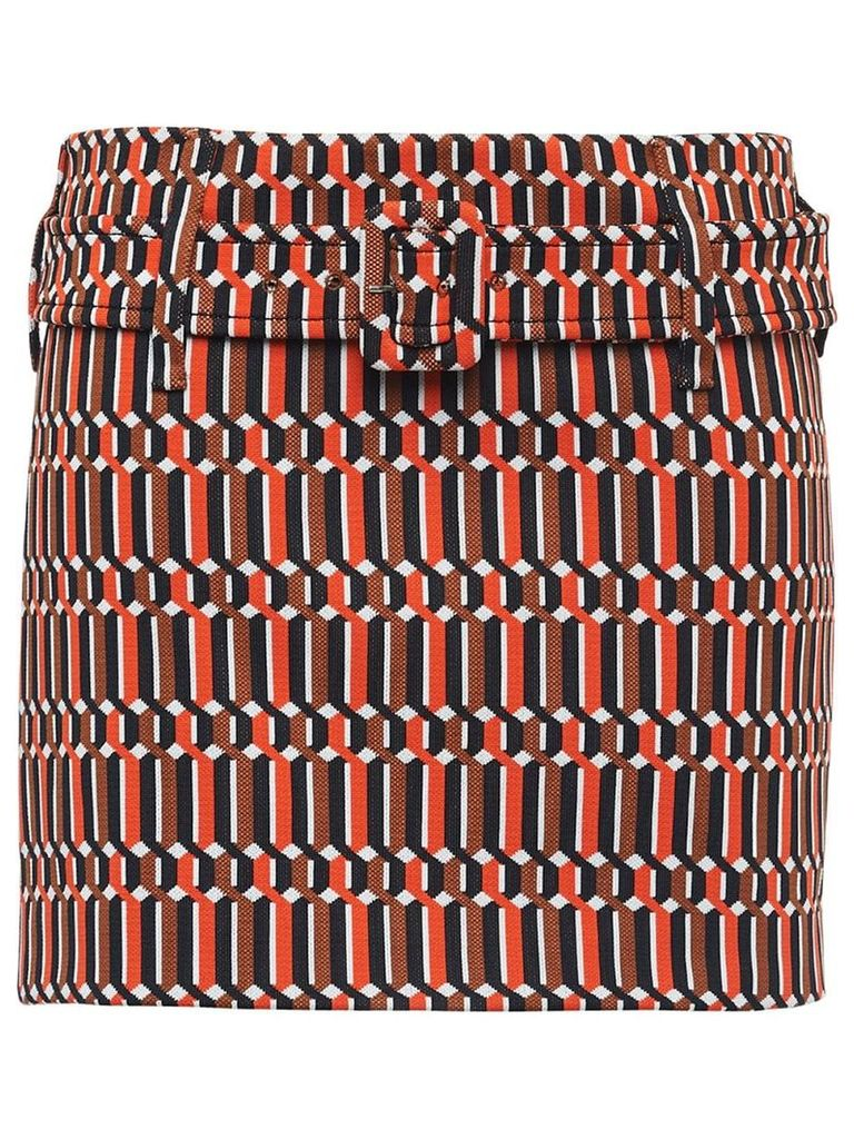 Prada technical jacquard skirt - Orange