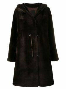 Liska hooded midi coat - Brown