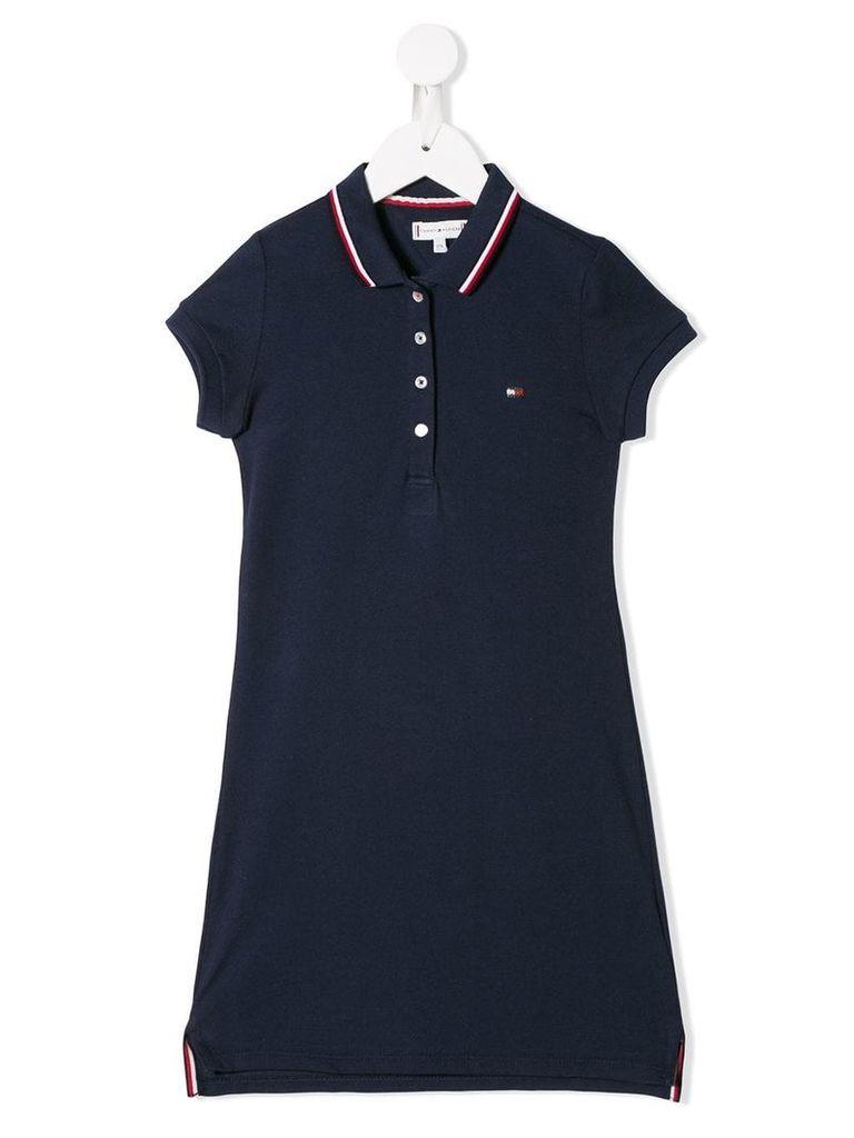 Tommy Hilfiger Junior embroidered logo shift dress - Blue