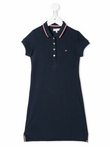 Tommy Hilfiger Junior embroidered logo shift dress - Blue