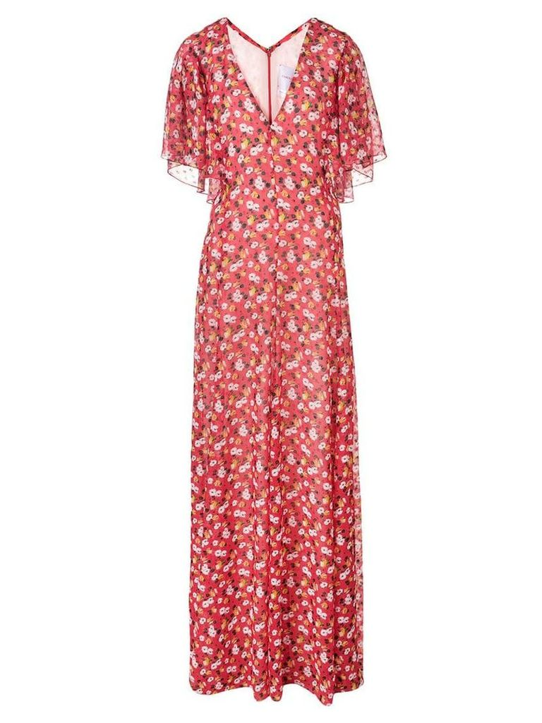 Carolina Herrera floral print maxi dress - Red