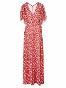 Carolina Herrera floral print maxi dress - Red