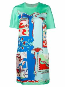 Emilio Pucci La Villa Print Silk Dress - Green