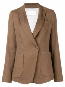 Fabiana Filippi beaded details blazer - Brown
