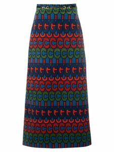 Gucci psychedelic logo print skirt - Multicolour