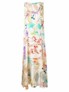 Agnona floral maxi tank dress - Neutrals