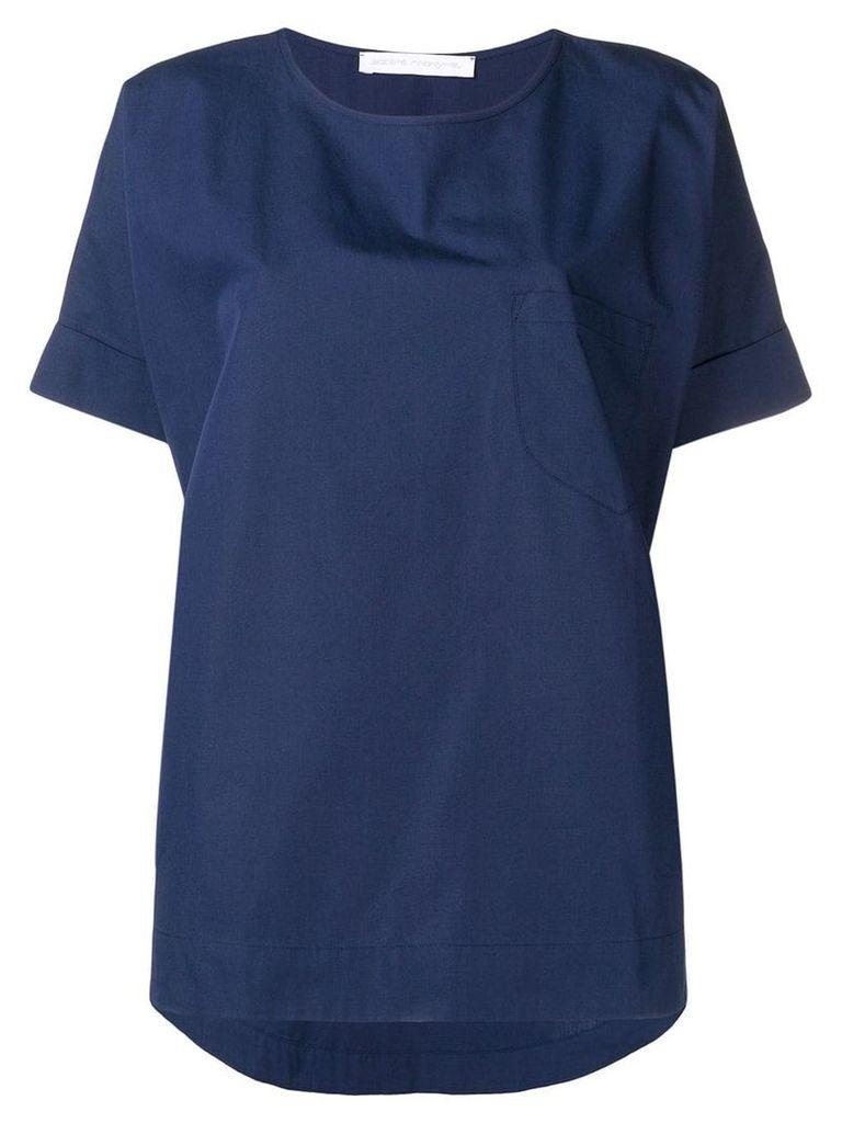 Société Anonyme dark blue oversized top