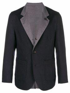 Brunello Cucinelli contrast collar blazer - Blue