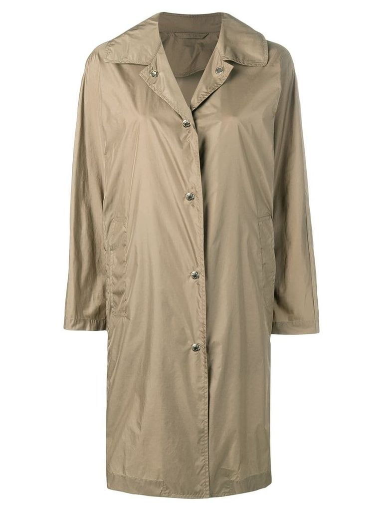 Mackintosh Beige Nylon Single Breasted Coat LM-079ST/P - Brown