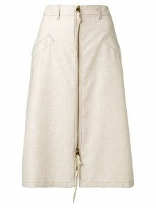 Agnona denim midi skirt - Neutrals