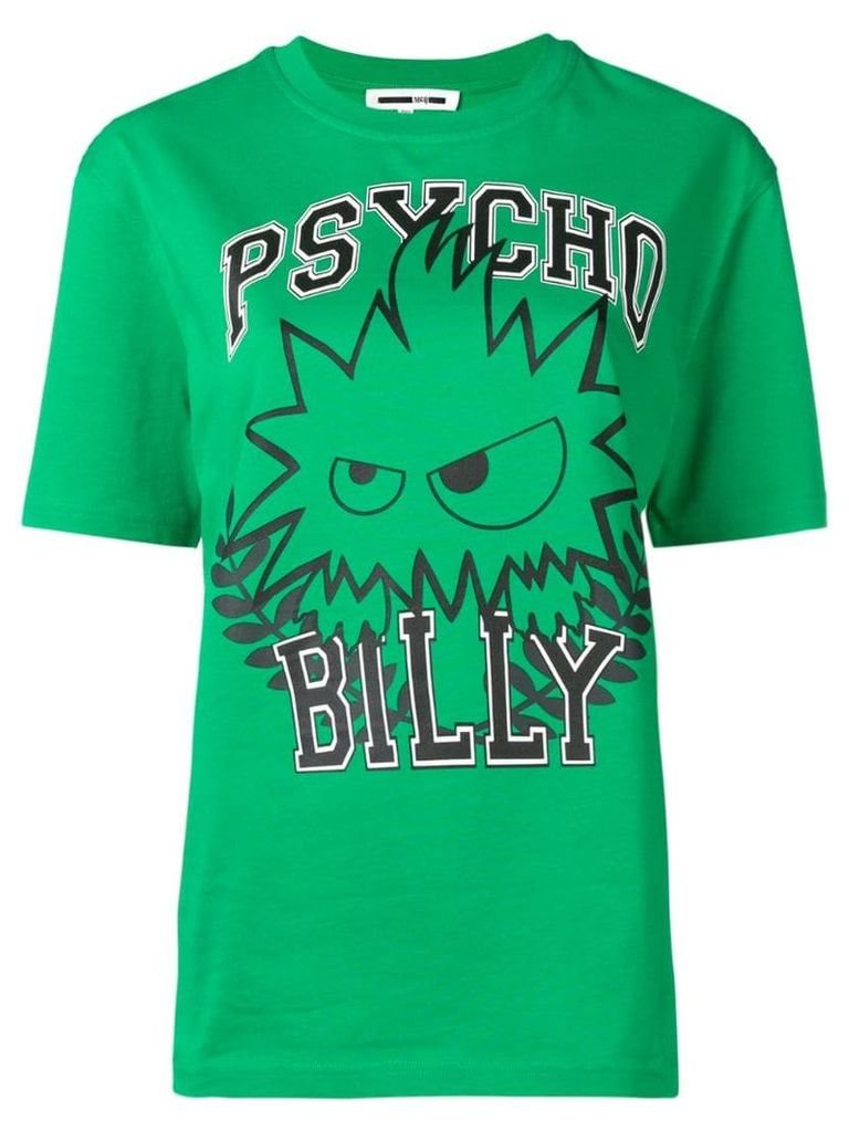 McQ Alexander McQueen Psycho Billy graphic T-shirt - Green