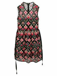 Red Valentino Love Celebration embroidered dress - Black
