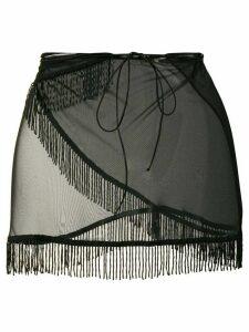 Oseree mini skirt beach cover-up - Black