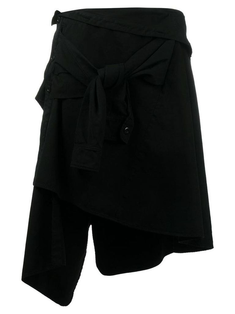 Faith Connexion asymmetric tied skirt - Black