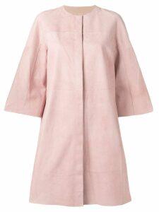 Drome suede panel coat - Pink