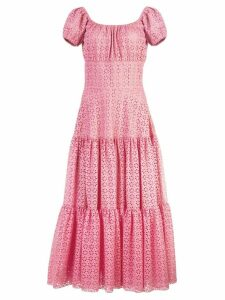Michael Kors Collection floral lace ruffled dress - Pink