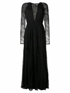 Aniye By floral lace inserts dress - Black