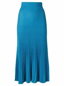 Agnona rib knit godet midi skirt - Blue