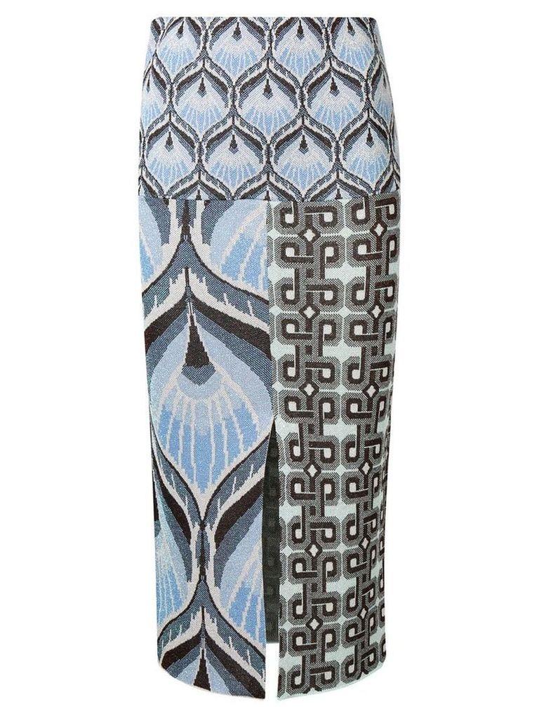 Circus Hotel printed midi skirt - Blue