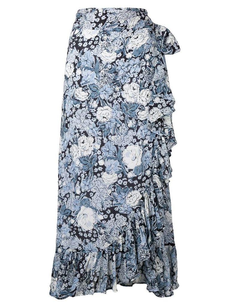 Ganni floral print skirt - Blue