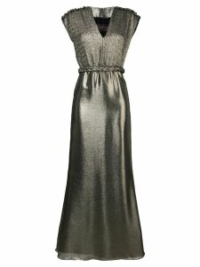 Max Mara long metallic gown - Gold