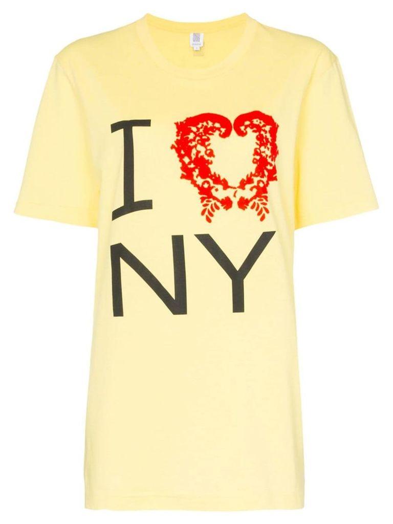 Rosie Assoulin I love NY T-shirt - Yellow