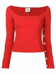 A.W.A.K.E. Mode off-the-shoulder T-shirt - Red