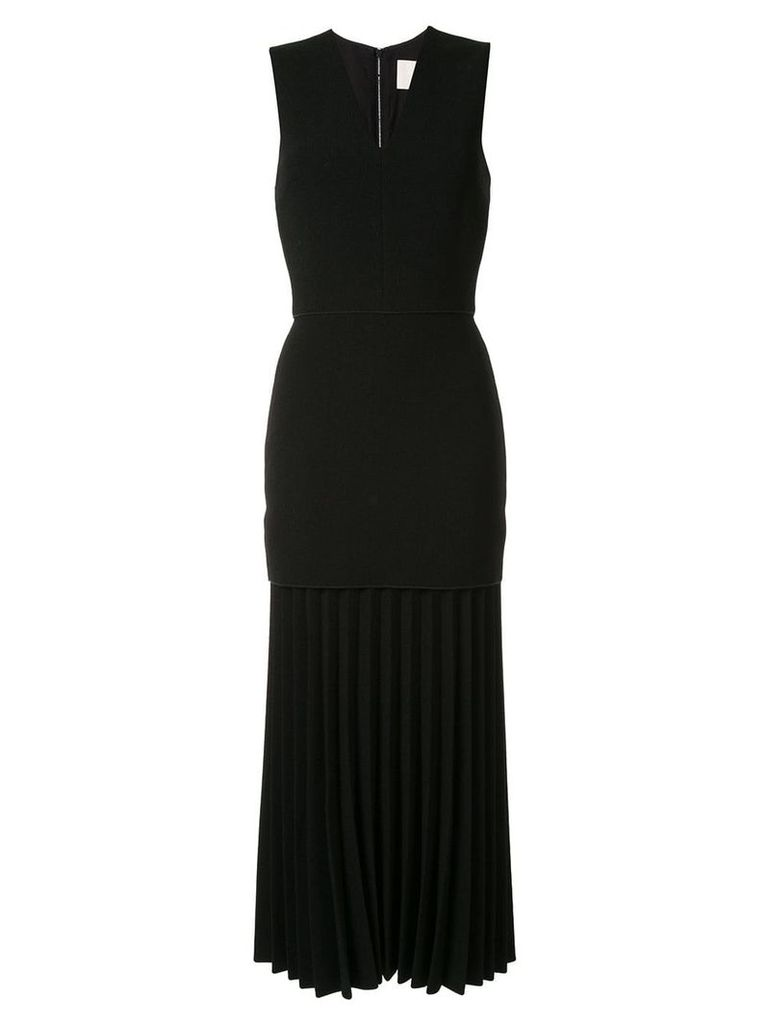 Dion Lee linear pleat dress - Black