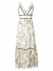 Twin-Set floral print dress - Neutrals