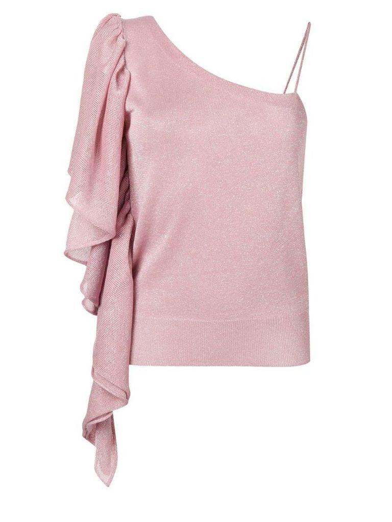 Circus Hotel slim-fit one-shoulder top - Pink