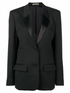 Bottega Veneta satin lapel blazer - Black