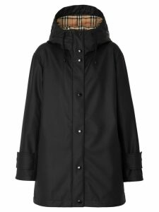 Burberry Kingdom Print Showerproof Hooded Coat - Black