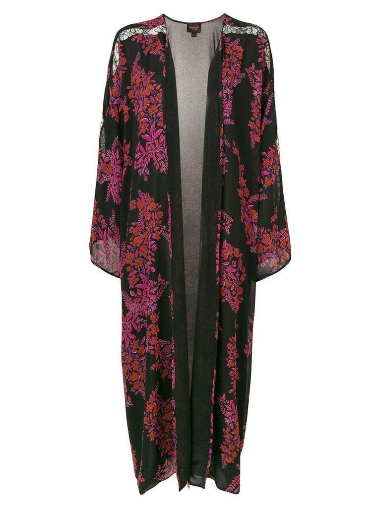 Giambattista Valli floral pattern robe coat - Black