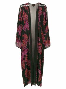 Giambattista Valli floral pattern robe coat - Black