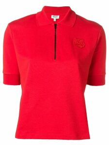 Kenzo tiger-patch polo shirt - Red