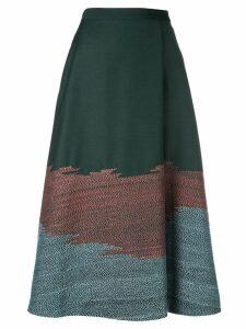 Bodice Studio stitch detail A-line skirt - Green